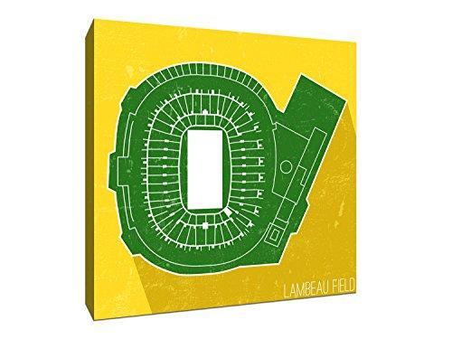 Lambeau Field Seat Map (Canvas 24x24) NFL Seat Map Canvas - Field Study Fabric
