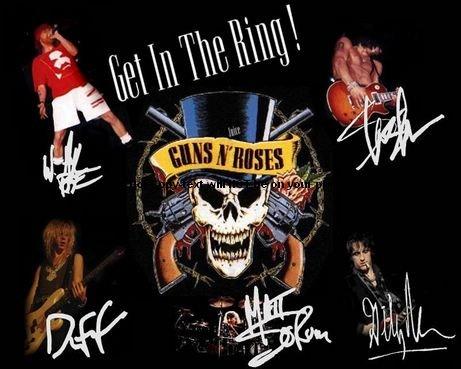 Guns N Roses Obrazek Autographed Preprint Signed 11x14 Poster Photo