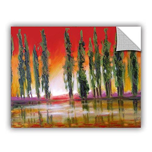(ArtWall Susi Franco's Tuscan Cypress Sunset Art Appeelz Removable Graphic Wall Art, 14 by 18