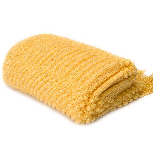 "Battilo Inc Lightweight Knit Patterned Throw Blanket 50"" x 6"