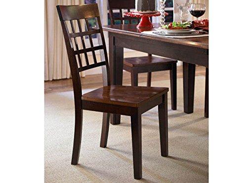 A-America Bristol Point Lattice Back Side Chair - 2 Chairs, Oak-Espresso