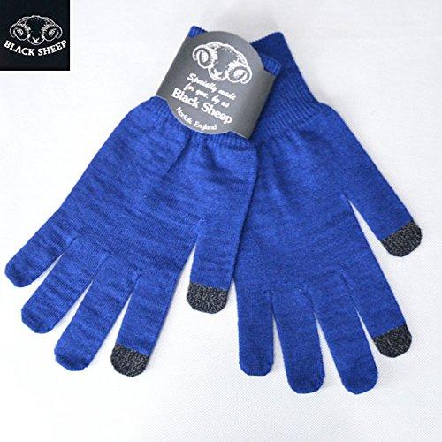 [ブラックシープ]BLACK SHEEP スマホ対応 ニットグローブ レディース ブルー KNIT GLOVE LADY'S 手袋 ウールニットグローブ BLUE