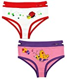 Baby and Toddler Girls Underwear with Ez Pull UP Handles (Ladybug & Butterfly)