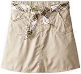 Eddie Bauer Big Girls Twill Scooter with Reversible Belt, Khaki,16