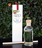 Cranberry & Pine Scented Oil Reed Diffuser Set with Real Pine Needles! Holiday Wreath by Urban Naturals | Holly Berry & Frosted Fir Needles | Makes a Great Gift any time of year!