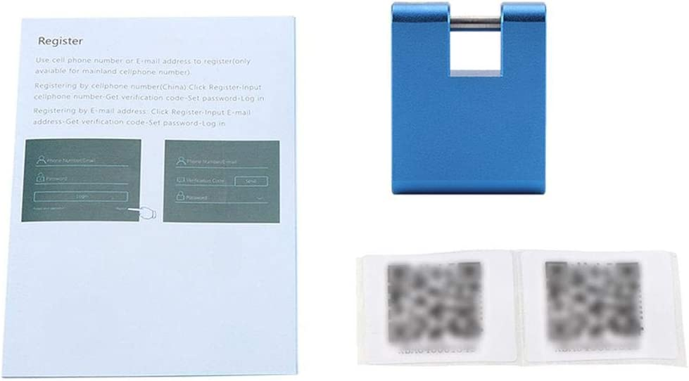 01 FTVOGUE Keyless Anti-Diebstahl Smart Lock Wireless Vorh/ängeschloss Handy Bluetooth APP f/ür Rucks/äcke