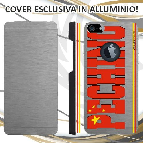 CUSTODIA COVER CASE SKILINE PECHINO PER IPHONE 5 ALLUMINIO TRASPARENTE