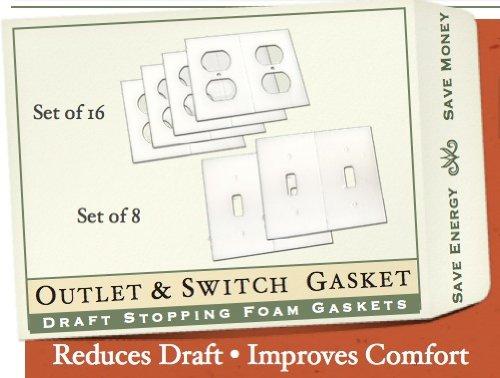 Foam Gaskets (Gasket Covers, Electrical Outlet & Light Switch Plate Draft Stopper Foam Gaskets (1))