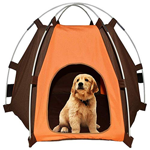 Lessbad Lifeunion Waterproof Pet Dog Tent House Detachable Pet Hexagon Kennel Tent with Extra Strong Stick, Crate for…