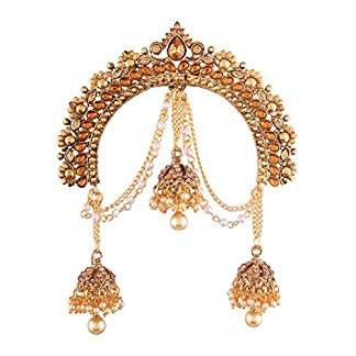 I Jewels Gold Plated Jhumki Hair Accessory Juda Pin With Chain For Women (Sm34Fl) 51n 2B4P16 2BnL