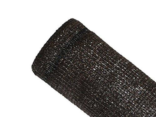 MAILLESTORE Brise-vue 80% Marron/Noir - 95gr/m² - Sans boutonnières Marron/Noir 1m x 10m