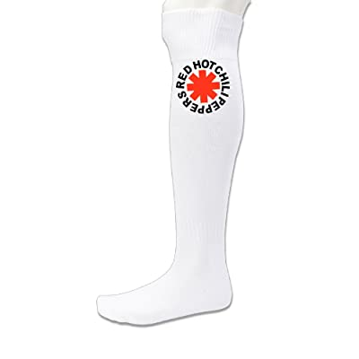 101Dog Casual Wear Hot Chili Asterisk Soccer Socks White
