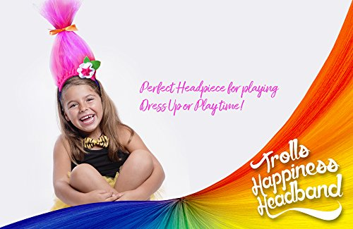 Ingeniouskid Trolls Happiness Headbands Dance Play Wear 2-Pack-Colors May (Troll Costume For Toddler)