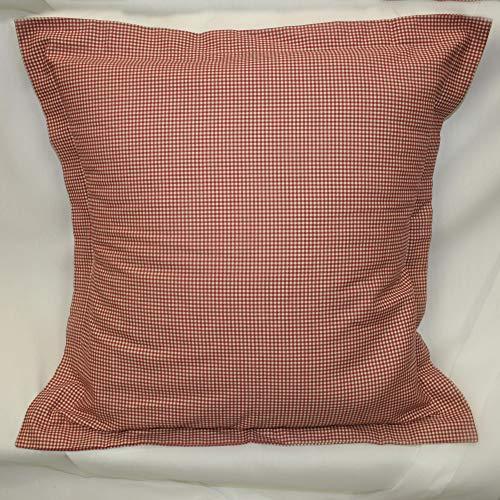 Ellis Curtain Victoria Park Toile Logan Gingham Check Reversible Toss Pillow, Red