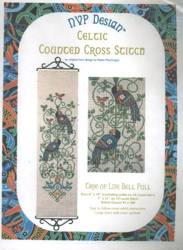 NVP Design - Celtic Counted Cross Stitch - Tree of Life Bell Pull