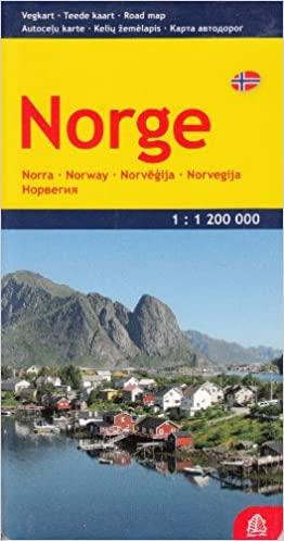 Norway Road Map English And Russian Edition Jana Seta - Norway map in english