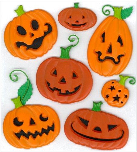 Jolee's Boutique Funny Pumpkins Dimensional Stickers