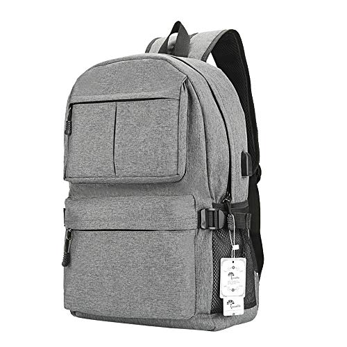 Winblo Laptop Backpack, 15 15.6 Inch College Backpack with USB Charging Port Light Weight Travel Backpack for Men Women
