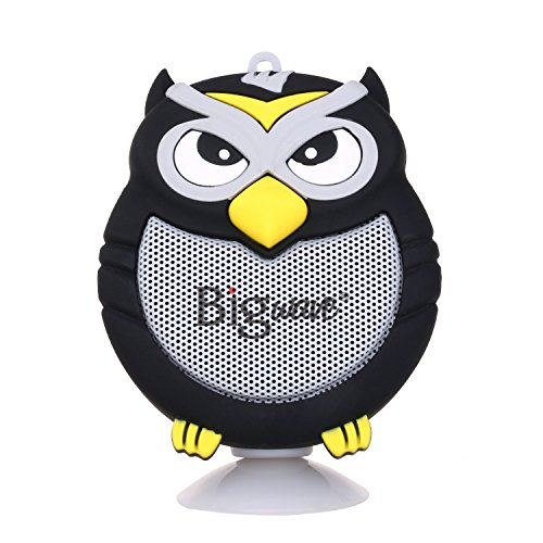 (Bigwave Bluetooth Speaker, OWL Design Portable Wireless Mini Speakers with Built-in Mic, Hands-Free Speakerphone, Support TF Card, Perfect for Home Car Party and Outdoor Activities (Black))