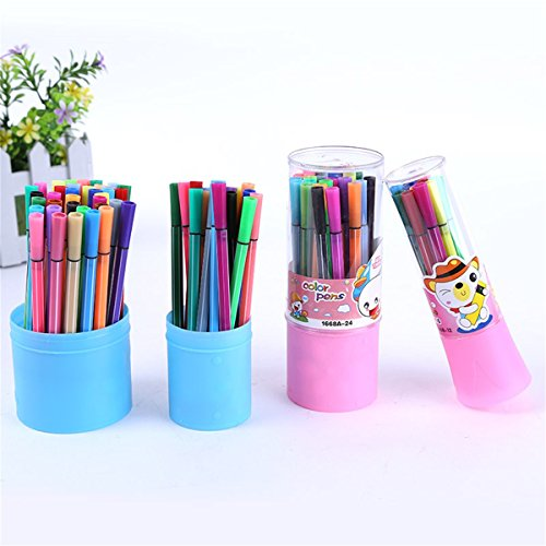 Paint Brushes, 1Box 24 Colors Students' Drawing Art Color Pens by Wei Xi