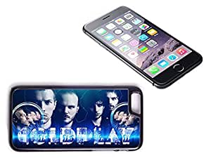 iPhone 6 Black Plastic Hard Case with High Gloss Printed Insert Coldplay