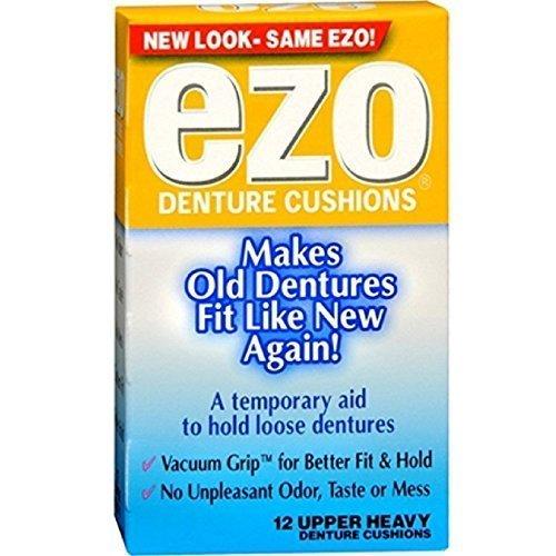 Ezo Denture Cushions Upper Heavy 12 Each ( Pack of 3) by Ezo