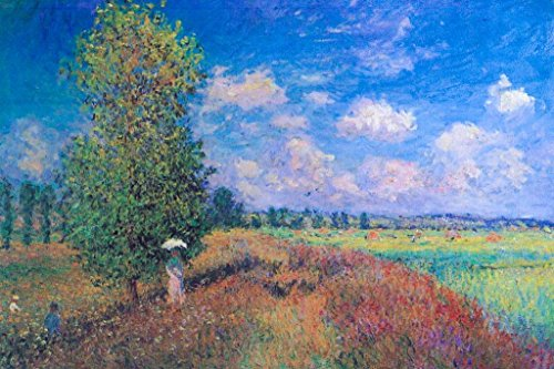 (Claude Monet Summer Poppy Field 1875 Oil On Canvas French Impressionist Artist Art Mural Giant Poster 36x54 inch)