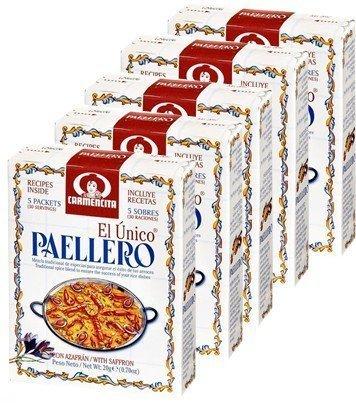 Paellero Carmencita. 6 boxes, 30 envelopes total
