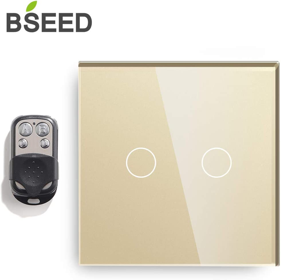 Bseed Dimmer Switch With Remote Glass Panel Touch Sensor