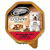Cesar Country Chicken Mini Fillets in Gravy with Tender Beef Slices, Pasta & Carrots - Foil Tray (150g)