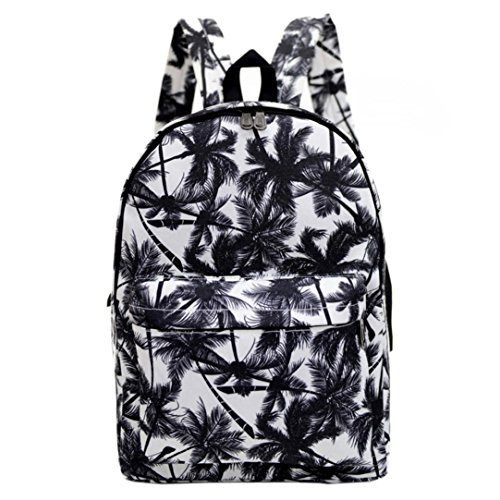 Clode® Las mujeres mochila lona bolsa de impresión de la escuela mochilas bandoleras C