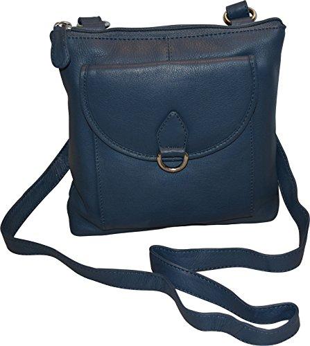 Pocket Leather Genuine Multi Women's Organizer Taylor amp; Paul Blue Crossbody Bag With YwqfCSn