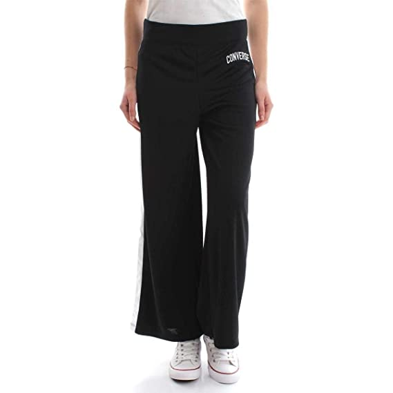 9b29c96fd9bf Converse 10007404 Poly Pant Wide Leg Pants Women Black S  Amazon.co.uk   Clothing