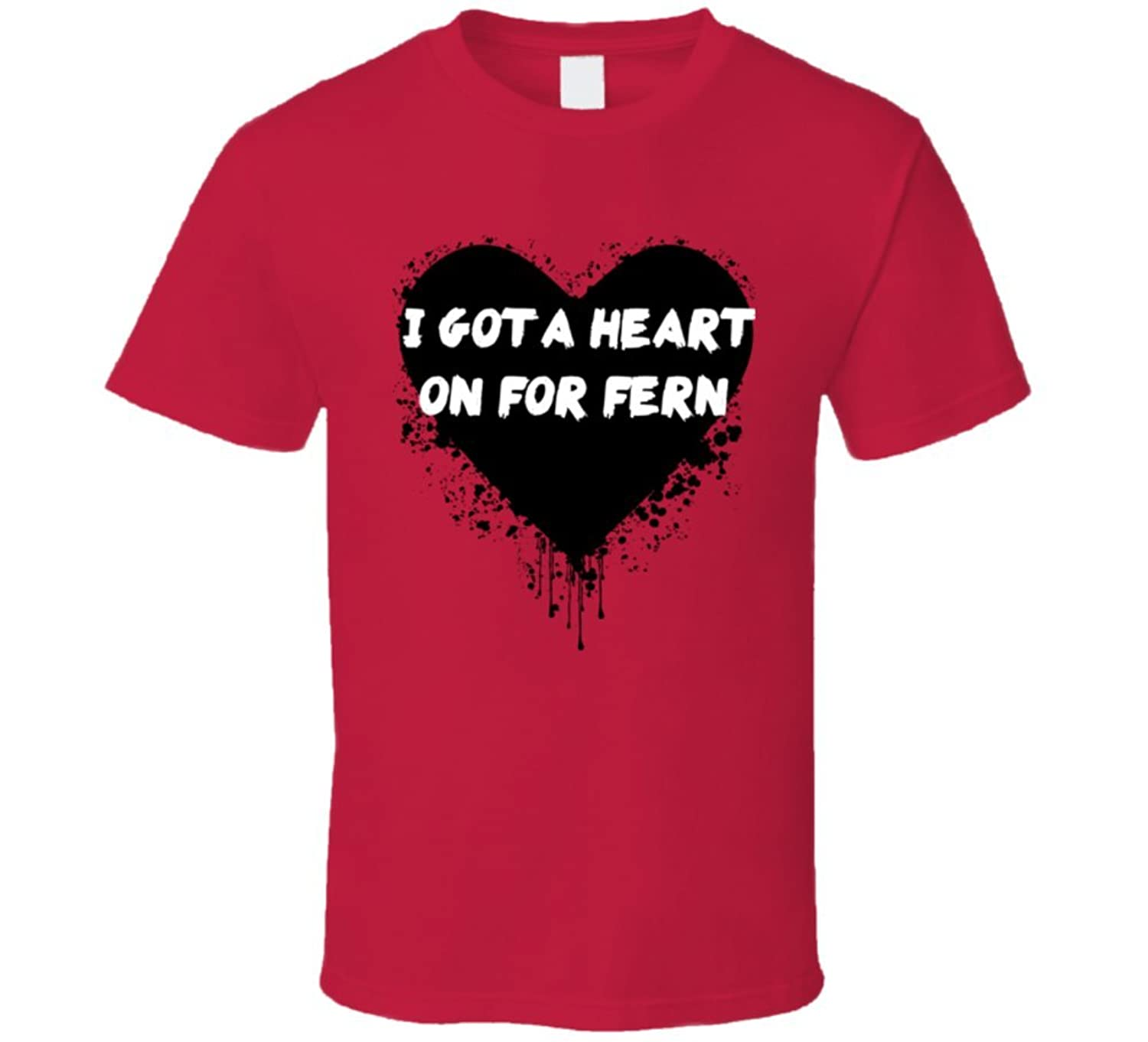 Heart on for Fern Simple Plan Inspired Valentines T Shirt