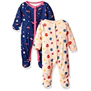 Rosie Pope Baby Girls 2 Pack Coveralls, Space, 3-6 Months