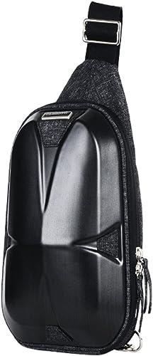 FOLGANDROS Sling Bag Chest Bag Hard Shell One Shoulder Crossbody Bag Backpack