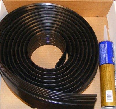 PVC Garage Door Threshold by BLT G Floor 20' Black