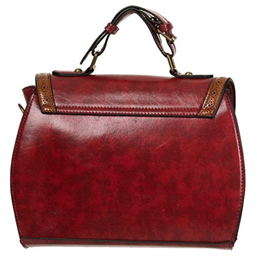 Dancing Days, Borsa a mano donna rosso Rot