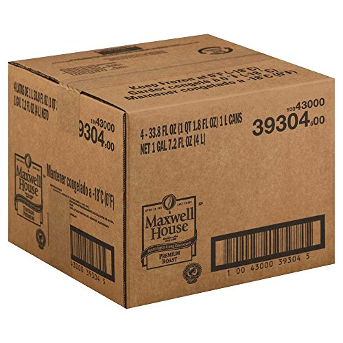 Maxwell House Premium Roast Coffee Frozen Liquid Concentrate - 33.8 oz. carton, 4 cartons per case by MAXWELL HOUSE