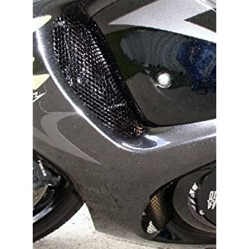 2008-2018 Suzuki Hayabusa GSXR 1300 Black Powder Coated Fairing Grills  Screens Vents