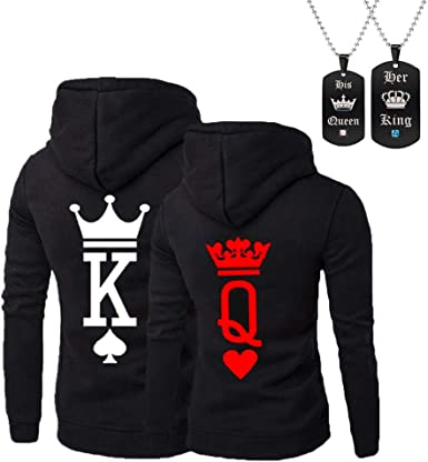King Queen COLOR Couple Matching CREWNECK Valentines Day Love Matching Sweater