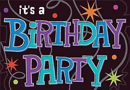 amscan Invitaciones de cumpleaños - Sobres incluidos - Pack ...