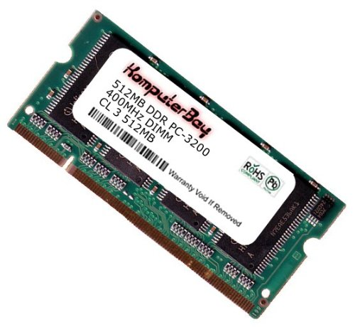 Ddr400 Sodimm 200 Pin - Komputerbay 512MB DDR SODIMM (200 Pin) 400Mhz DDR400 PC3200 CL 3.0 512 MB for Apple