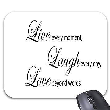 Amazoncom Live Laugh Love Quotes Mouse Pad 118 X 98 Stylish