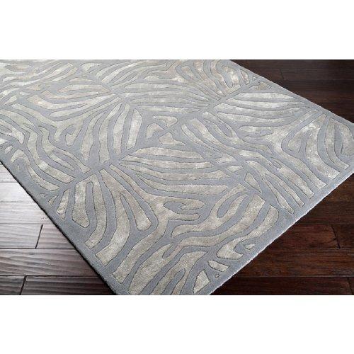- CC Home Furnishings 5' x 8' Burchelli Zebra Chain Dove Gray Wool Area Throw Rug
