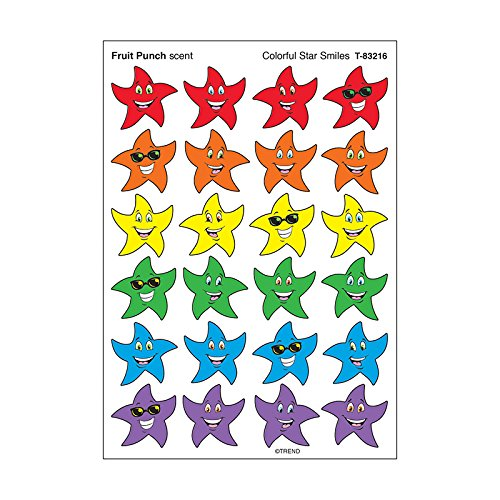 TREND enterprises, Inc. Colorful Star Smiles/Fruit Punch Stinky Stickers, 96 ()