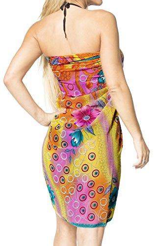 involucro da beachwear costumi LA da LEELA bikini scialle bagno vestito costume Giallo gonna vestito e192 bagno coprire rxXnnYFt