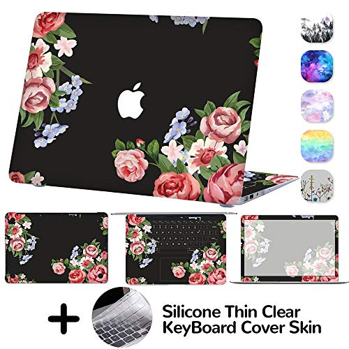 (DILIMI MacBook Pro 13 Inch Case,4-Sided Full Set Decal Skin Sticker Cover,Protective Case for MacBook Pro 13 Model A1452/A1502(Flower))