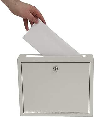 """AdirOffice Multi Purpose, Mail Box, Drop Box, Suggestion Box, Wall Mountable, 3"""" x 10"""" x 12"""" - Sand Beige"""