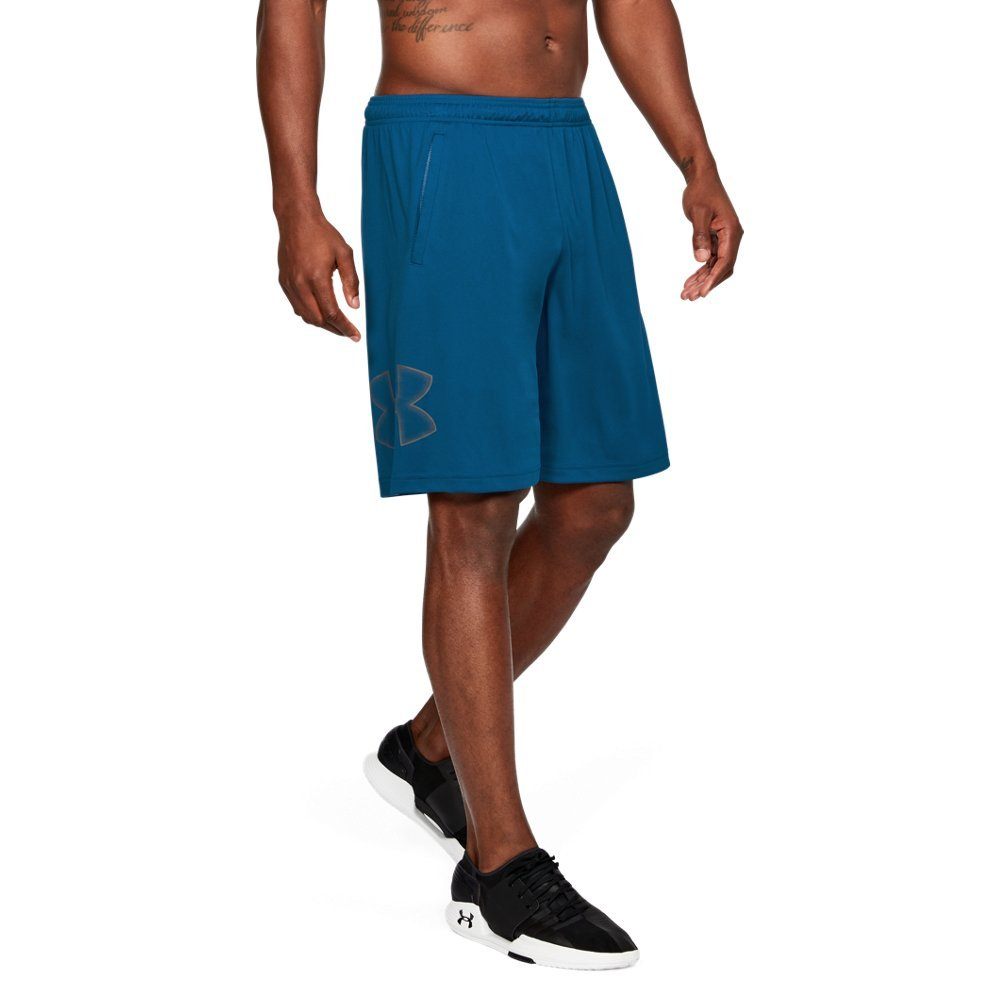 UNDER ARMOUR mens Tech Graphic Shorts , Moroccan Blue (487)/Graphite, Small